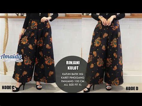 Kulot Trendy model batik wanita modern terbaru kulot rok batik cantik