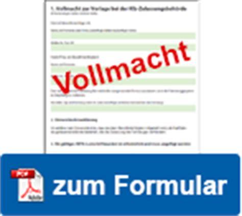 Auto Anmelden Versicherung Andere Person by Vollmacht F 252 R Die Kfz Zulassung Vorlage Jetzt Ausdrucken