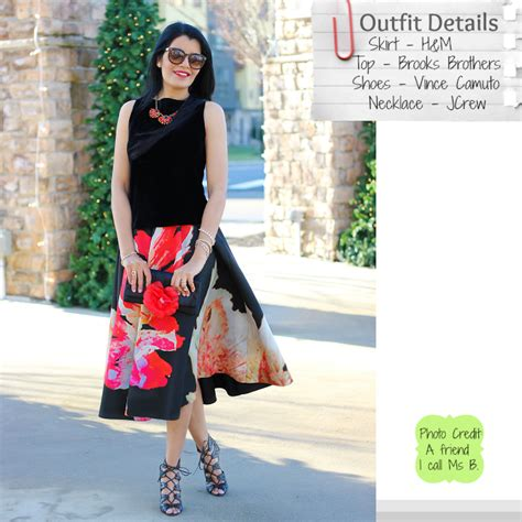 style delights ready with h m floral midi skirt