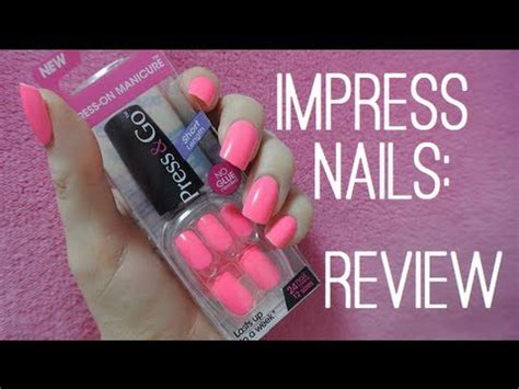 best stick on nails impress press on nails review youtube