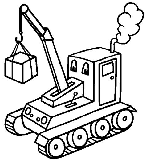 coloring page crane truck free coloring pages of cranes