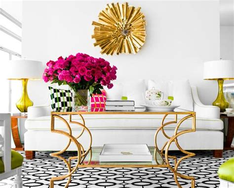 Livingroom Paint Glam Living In Pink And Yellow Interiors By Color