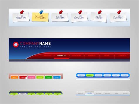 Website Menus Vector Art Graphics Freevector Com Web Page Menu Templates