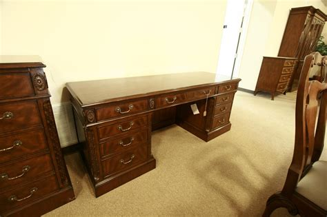 matching desk and dresser high end mahogany credenza with oak drawers