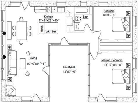 courtyard house plans u shaped small u shaped house plans u shaped house plan with