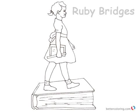 coloring page for ruby bridges ruby bridges sheet coloring pages