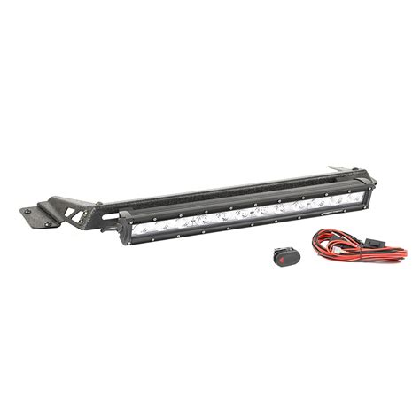 Rugged Ridge 11232 16 Hood Light Bar Kit 20 Quot Led Light Led Light Bar Kit