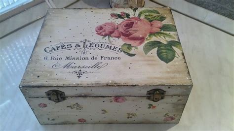 Decoupage On Wood Ideas - diy decoupage wooden box transfer