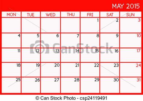 Calendario 8 Maggio 2015 Archivio Illustrazioni Di Maggio 2015 Vuoto Calendario