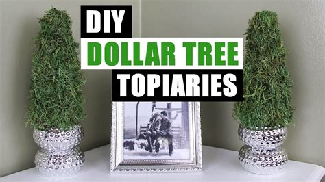 diy dollar tree topiaries dollar store dollar tree