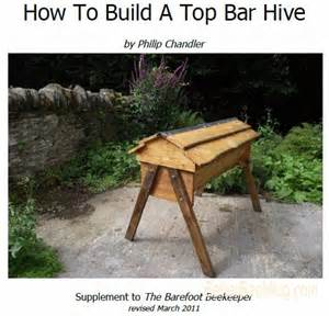 build a top bar bee hive woodworking project plans many