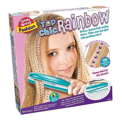 Hair Style Kit Toys by Top Chic Rainbow Hair Styling Set Educational Toys
