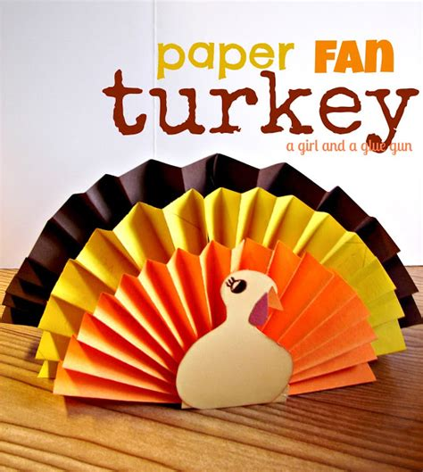 Make A Paper Turkey - 15 thanksgiving crafts clutter