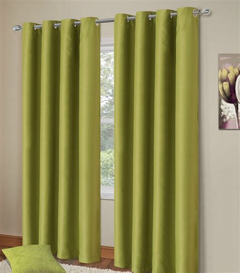green blackout eyelet curtains plain green colour thermal blackout bedroom livingroom