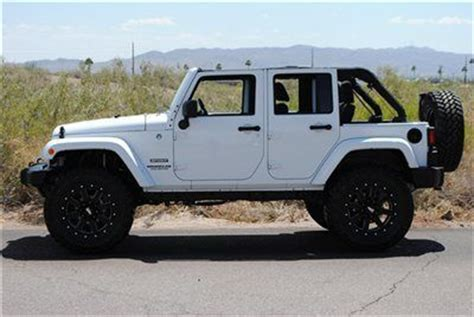 Lifted White Jeep Used Lifted 2013 Jeep Wrangler Unlimited Sport Lifted Jeep