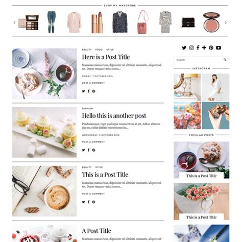 blogspot themes shop holly weave a luxury wordpress theme by pipdig