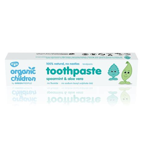 Green Organic Children Toothpaste organic children toothpaste spearmint aloe vera 50ml