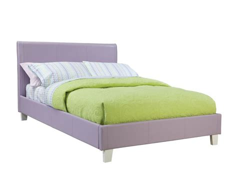 Deal Beds by Fantasia Lavender Pvc Wood Pholstered Bed