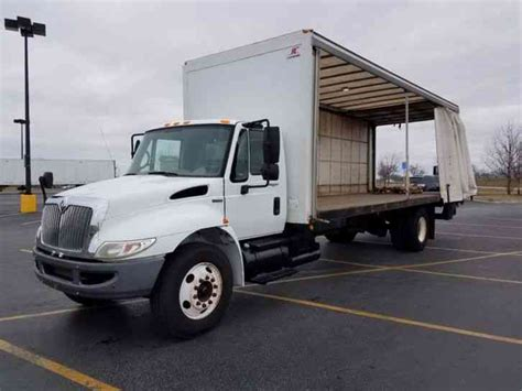 curtain side box truck hino 338 2009 van box trucks