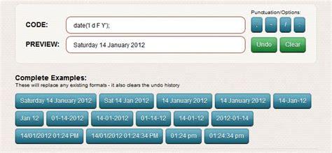 Php Date Format Generator | php date format generator michael raffaele