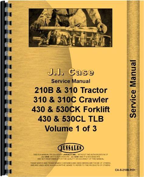 Case 530 Tractor Loader Backhoe Service Manual