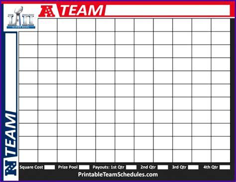 Football Betting Sheets Printable