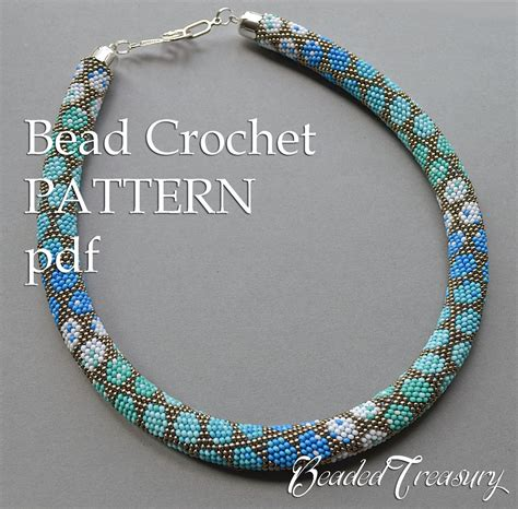 pattern for bead crochet necklace city style