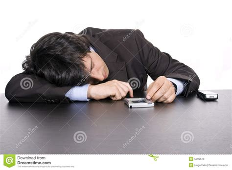 business sleeping on the desk royalty free stock