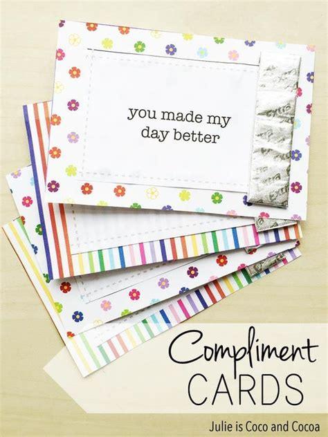 Diympliment Cards Free Printables Pinterest Cards