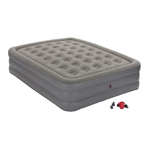coleman 174 guestrest high airbed with external gray white target