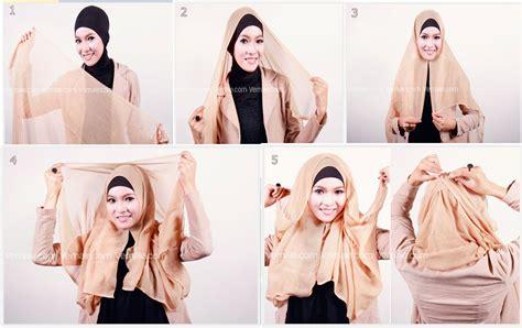 Segi Empat 6 6 cara mudah memakai jilbab segi empat terbaru