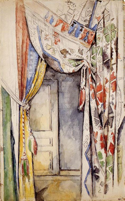 painting curtains curtains 1885 paul cezanne wikiart org