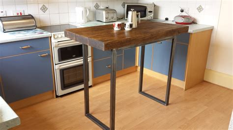 table island for kitchen rustic breakfast bar table kitchen island by