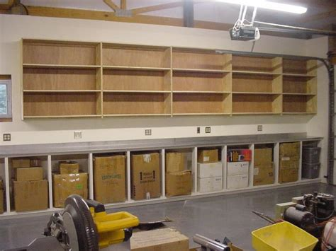 Garage Shelving Storage Ideas Ideas Minimalist Wooden Garage Shelf Plans Organize The