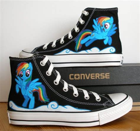 my pony sneakers custom painted converse shoe salvador dali