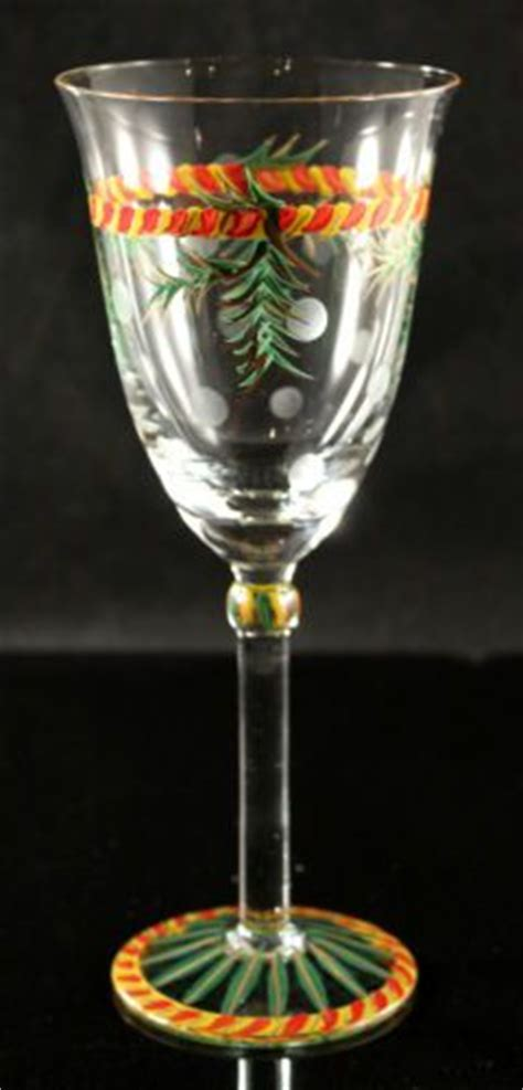 southern living gail pittman christmas wine glass es