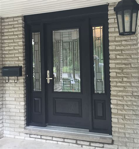 Exterior Fiberglass Doors With Sidelights Fiberglass Entry Doors With Sidelights Add Classic Style To Your Home With Smooth Fiberglass