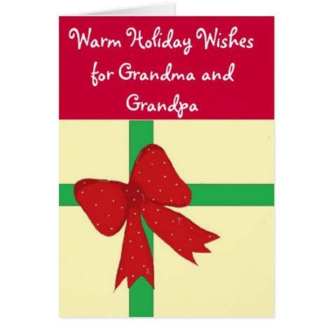 printable christmas cards for grandma grandma and grandpa christmas greeting card zazzle