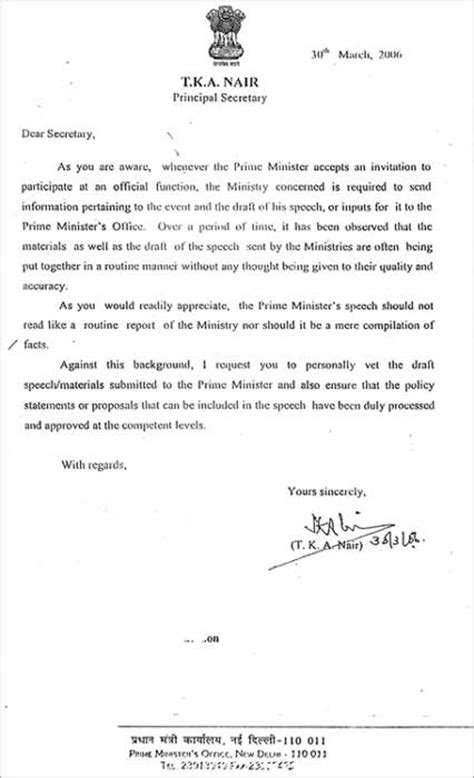 Official Letter Government Of India Never Send Incorrect Stuff To The Pm