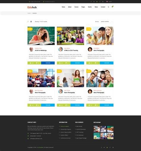 eduhub education psd templates by clevertheme themeforest