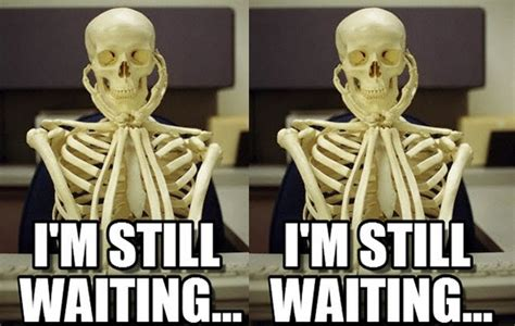Skeleton Computer Meme - still waiting meme skeleton image memes at relatably com