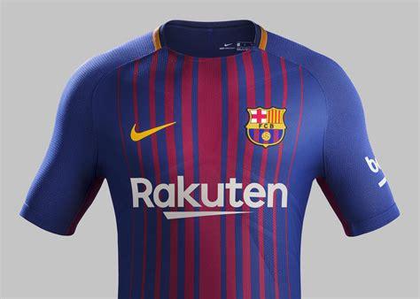 barcelona home kit barcelona 17 18 nike home kit 17 18 kits football
