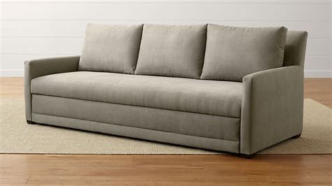 sofa with trundle reston trundle sleeper sofa reviews crate and barrel