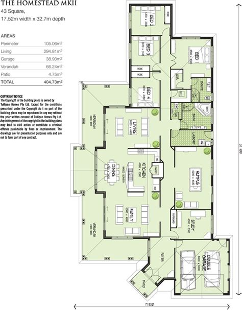 australian homestead floor plans homestead mkii home design tullipan homes