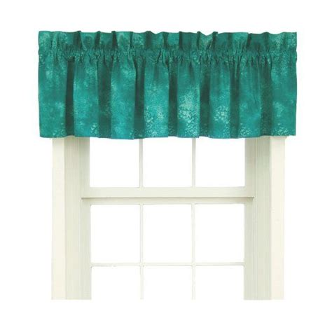 Turquoise Valances For Windows Inspiration Caribbean Coolers Window Valance Turquoise 88x18 Quot Kitchen Curtains