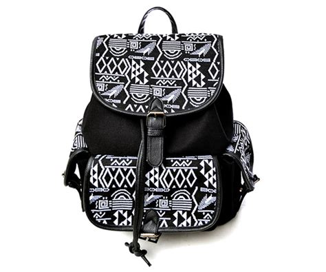 black pattern backpack aztec pattern black backpack on luulla