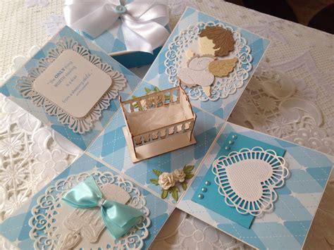 Handmade Baptism Favors - handmade christening baptism exploding box card