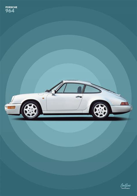 Porsche Poster by Porsche 911 964 1 Poster Vertical Car Bone Pl