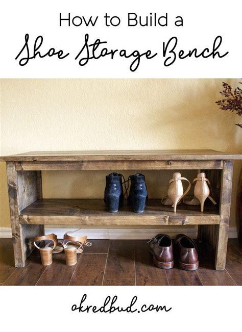 build  shoe storage bench redbud bench