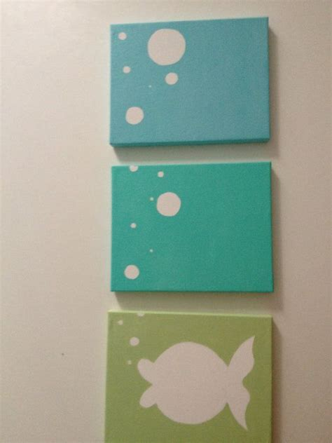 Tempat Pensil Canvas Kawaii Diy fish bubbles in shades of turquoise this would be in a kid bathroom crafts